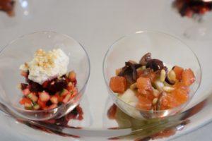 Tartare di salmone e vegetariana